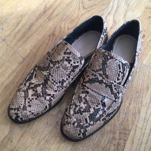 ZARA Trafaluc Snake Loafers